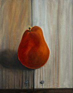 Birne Acrylmalerei auf Leinwand Bild: 40 x 50 cm