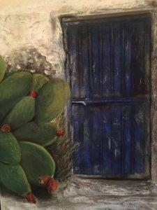 Erinnerung an Sizilien Pastellkreide auf Papier Bild: 50 x 65 cm / Rahmen 60 x 80 cm