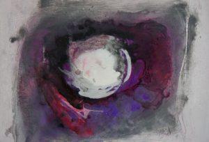 Koiteich Acrylmalerei auf Leinwand Bild: 70 x 60 cm