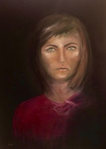 Lady Mathilda Ölmalerei auf Leinwand, Bild: 70 x 100 cm
