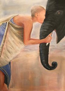 Liebe Acrylmalerei auf Leinwand Bild: 50 x 70 cm