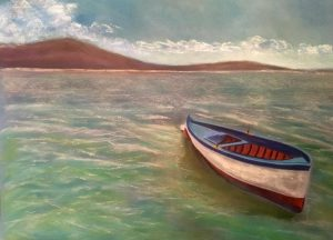 Fischerboot Pastellkreide auf Papier Bild: 63 x 48 cm / Rahmen 80 x 60 cm