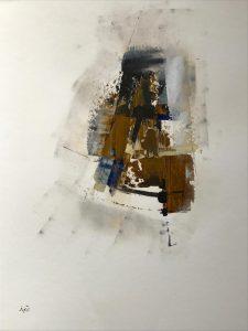 Abstrakt ohne Name Acrylmalerei auf Papier Bild: 50 x 65 cm