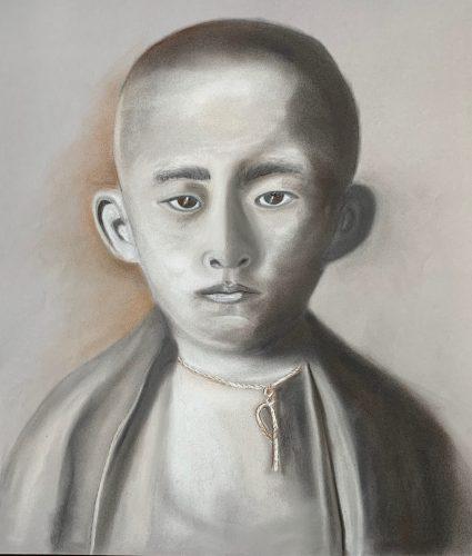 Asiatischer Mönch