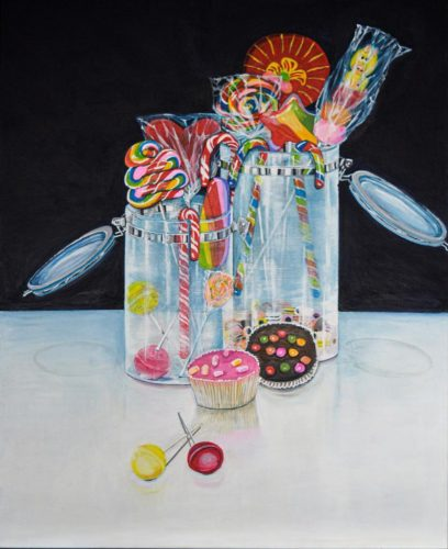 SweetsAcrylmalerei auf Leinwand 60 x 100 cm