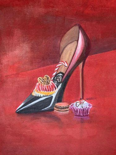 Süße PompsAcrylmalerei auf Leinwand 60 x 80 cm
