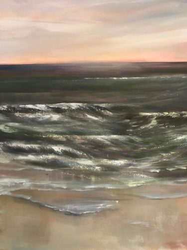 Wellengang Acrylmalerei auf Leinwand Bild: 80 x 80 cm