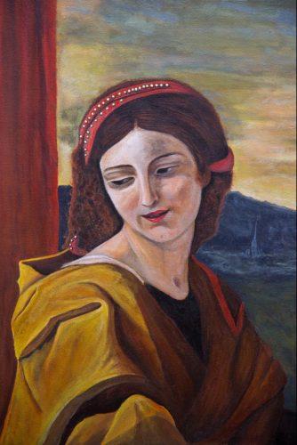 Saint Cecilia von Puossin (Teilreproduktion) Acrylmalerei auf Leinwand Bild: 80 x 100 cm