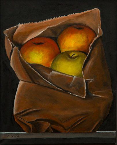 Herbstäpfel Ölmalerei auf Leinwand Bild: 40 x 50 cm