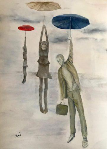 Freiheit Acryl auf Papier Bild: 42 x 56 cm