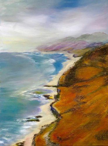 Felsenküste Mischtechnik/Acryl auf Leinwand Bild: 60 x 80m
