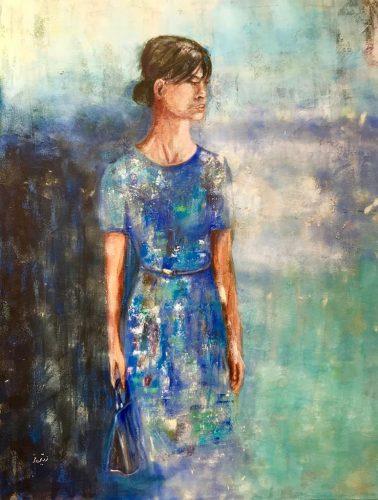 Miss Sompien Mischtechnik/Acryl auf Leinwand Bild: 80 x 100 cm