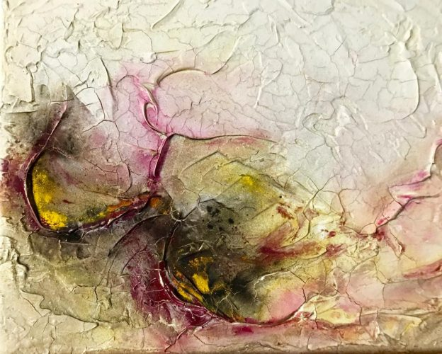 Wortlos Mamormehl & Pigmente auf Leinwand Bild: 30 x 24 cm